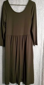 NWT Army Green/Olive Old Navy Petite L Dress